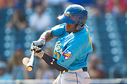 Amarillo Sod Poodles outfielder Taylor Trammell (7) hits a go-ahead grand slam in the ninth inning against the Tulsa Drillers during the Texas League Championship on Sunday, Sept. 15, 2019, at OneOK Field in Tulsa, Oklahoma. [Photo by John Moore/Amarillo Sod Poodles]