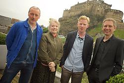 2016 Edinburgh International Film Festival, (left to right) Paul Welsh (Producer) Nicky Grogan (producer), Niall McCann (Director), Alex Kapranos (Franz Ferdinand), WORLD PREMIERE (DOCUMENTARY) LOST IN FRANCE, The Apex Hotel Grassmarket, Edinburgh16th June 2016, (c) Brian Anderson   Edinburgh Elite media
