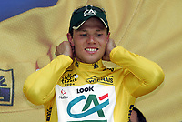 Sykkel<br /> Tour de France 2004<br /> 2. etappe<br /> 05.07.2004<br /> Foto: Dppi/Digitalsport<br /> NORWAY ONLY<br /> <br /> CHARLEROI - NAMUR<br /> <br /> THOR HUSHOVD (NOR) / CREDIT AGRICOLE