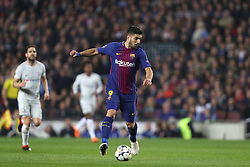 March 14, 2018 - Barcelona, Spain - LUIS SUAREZ of FC Barcelona during the UEFA Champions League, round of 16, 2nd leg football match between FC Barcelona and Chelsea FC on March 14, 2018 at Camp Nou stadium in Barcelona, Spain (Credit Image: © Manuel Blondeau via ZUMA Wire)