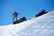 Sebastien Toutant during Snowboard Slopestyle Eliminations at 2014 X Games Aspen at Buttermilk Mountain in Aspen, CO. ©Brett Wilhelm/ESPN