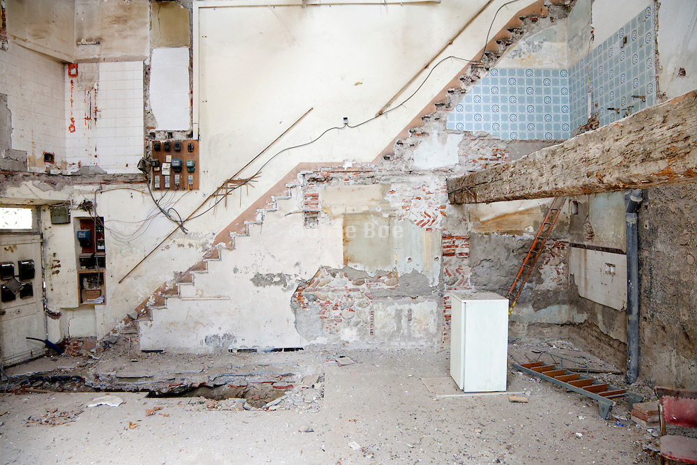 a house of which the inside is demolished