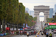 Illustration peloton, Scenery, Champs Elysees, Arc de Triomphe during the 105th Tour de France 2018, Stage 21, Houilles - Paris Champs-Elysees (115 km) on July 29th, 2018 - Photo Kei Tsuji / BettiniPhoto / ProSportsImages / DPPI
