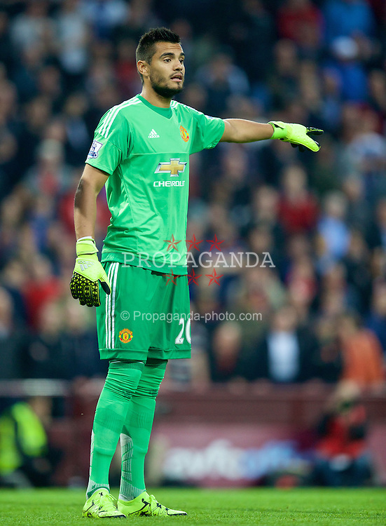 BIRMINGHAM, ENGLAND - Friday, August 14, 2015: Manchester United's Sergio Ramero in action against Aston Villa during the Premier League match at Villa Park. (Pic by David Rawcliffe/Propaganda)