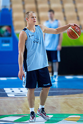 Sasu Salin of Finnland at practice session of team Finnland 1 day before the beginning of Eurobasket 2013 on September 3, 2013 in Arena Bonifika, Koper, Slovenia. (Photo by Matic Klansek Velej / Sportida.com)