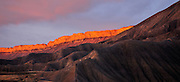 Book Cliffs at sunset, Grand junction, Colorado