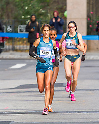 NYC Marathon, Moreira chases leaders mile 22