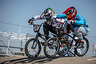 #211 (EVANS Kyle) GBR and #278 (RAMIREZ YEPES Carlos Alberto) COL  at Round 9 of the 2019 UCI BMX Supercross World Cup in Santiago del Estero, Argentina