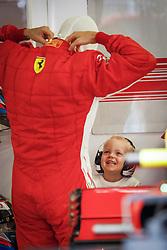 July 28, 2018 - Budapest, Hungary - Motorsports: FIA Formula One World Championship 2018, Grand Prix of Hungary, .#7 Kimi Raikkonen (FIN, Scuderia Ferrari) with his son Robin  (Credit Image: © Hoch Zwei via ZUMA Wire)