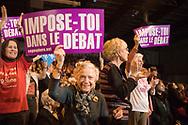 Meeting de Ségolène Royal. 06022007. Paris Halle Carpentier.