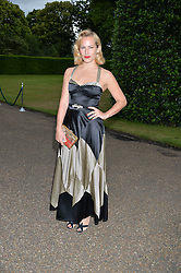 CHARLOTTE DELLAL at The Ralph Lauren & Vogue Wimbledon Summer Cocktail Party at The Orangery, Kensington Palace, London on 22nd June 2015.  The event is to celebrate ten years of Ralph Lauren as official outfitter to the Championships, Wimbledon.