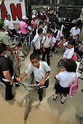 Children leave schooll in Guaimaca, Honduras.  Over 94% of Honduran children are enrolled in school, yet only 40% actually complete their schooling.  Hounduras is considered the third poorest country in the Western Hemisphere (Haiti, Nicaragua). With over 50% of the population living below the poverty line and 28% unemployed, Hondurans frequently turn to illegal immigration as a solution to their desperate situation. The Department of Homeland Security has noted an 95% increase in illegal immigrants coming from Honduras between 2000 and 2009, the largest increase of any country.