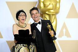 Winners and presenters in the Press Room at the 90th Academy Awards Ceremony at the Dolby Theatre in Los Angeles, California. 04 Mar 2018 Pictured: Rita Moreno and Sebastian Lelio. Photo credit: Jaxon / MEGA TheMegaAgency.com +1 888 505 6342