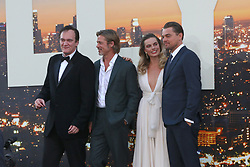 July 22, 2019 - Los Angeles, CA, USA - LOS ANGELES - JUL 22:  Quentin Tarantino, Brad Pitt, Margot Robbie, Leonardo DiCaprio at the ''Once Upon a Time in Hollywood'' Premiere at the TCL Chinese Theater IMAX on July 22, 2019 in Los Angeles, CA (Credit Image: © Kay Blake/ZUMA Wire)