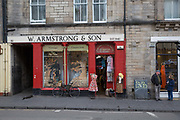 The Armstrong Clothing shop on the 9th November 2018 in Edinburgh, Scotland in the United Kingdom. A pre-owned clothing store established in 1840, with vintage womens and mens sections.