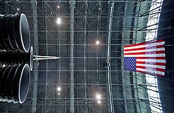 Sept. 27, 2012; Space Shuttle Discover in the Smithsonian Udvar-Hazy Center near Dulles Airport.<br /> <br /> Photo by Matt Cashore