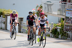 Ashleigh Moolman Pasio & Pauline Ferrand Prevot on the front in the final loop at Grand Prix de Plouay Lorient Agglomération a 121.5 km road race in Plouay, France on August 26, 2017. (Photo by Sean Robinson/Velofocus)