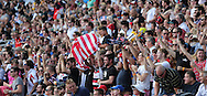 USA Eagles fans celebrate a try during the Rugby World Cup 2015 match between Samoa and USA at the Brighton Community Stadium, Falmer, United Kingdom on 20 September 2015.