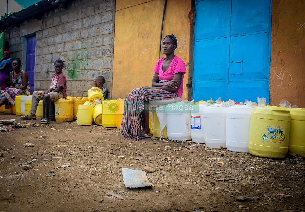 May 5, 2020, Nairobi, Kenya: Residents from Kibera Slum are seen qued up in  line waiting to fetch some water. (Credit Image: © Donwilson Odhiambo/ZUMA Wire)