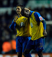 Photo: Jed Wee/Sportsbeat Images.<br /> Leeds United v Hereford United. Coca Cola League 1. 20/11/2007.<br /> <br /> Hereford's Kris Taylor (L) celebrates with Theo Robinson at the end of the match.