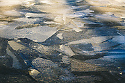 Fractured patterns of ice surface after cold, but windy night, Kemeri National Park (Ķemeru Nacionālais parks), Latvia Ⓒ Davis Ulands | davisulands.com