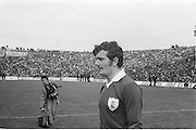 Galway player before the start of the All Ireland Senior Gaelic Football Championship Final Cork v Galway in Croke Park on the 23rd September 1973. Cork 3-17 Galway 2-13.