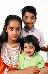 Group of young children smiling,
