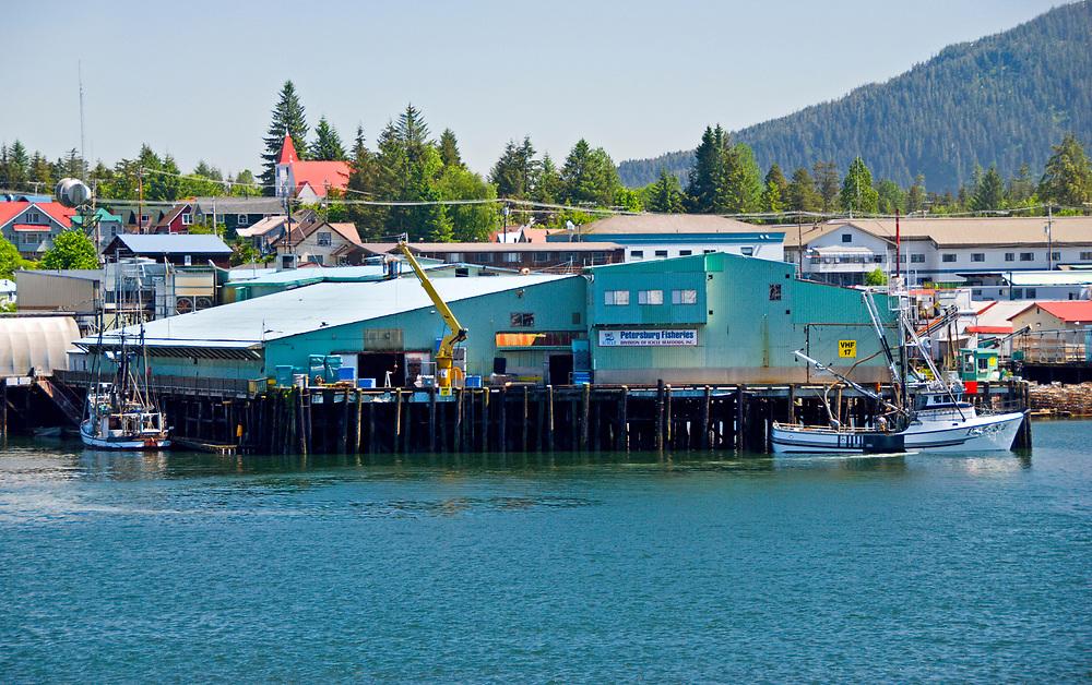 Fish processing center at Petersburg Alaska