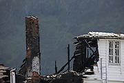Fire at Torvholmen located at Flåvær in Herøyfjord, Norway | Brann på Torvholmen på Flåvær i Herøyfjord, Sunnmøre.