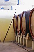 wooden vats domaine du vieux telegraphe chateauneuf du pape rhone france
