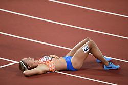 Dafne Schippers of the Netherlands looks on after her gold medal finish - Mandatory byline: Patrick Khachfe/JMP - 07966 386802 - 11/08/2017 - ATHLETICS - London Stadium - London, England - Women's 200m Final - IAAF World Championships