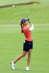 March 2, 2019 - Singapore - Azahara Munoz of Spain plays a shot on the 9th hole during the third round of the Women's World Championship at the Tanjong Course, Sentosa Golf Club. (Credit Image: © Paul Miller/ZUMA Wire)