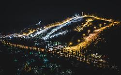 THEMENBILD - der Wintersportort Ruka mit der Skisprungschanze Rukatunturi, aufgenommen am 23. November 2018 in Ruka, Finnland // The winter sports resort Ruka with the ski jump Rukatunturi, Ruka, Finland on 2018/11/23. EXPA Pictures © 2018, PhotoCredit: EXPA/ JFK