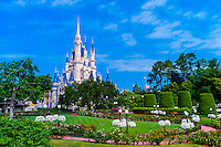 Cinderella Castle, Magic Kingdom, Walt Disney World, Orlando, Florida USA