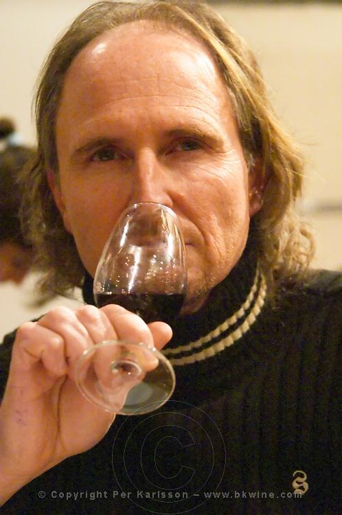 Omar Moizo winemaker at Bodega Moizo winery, Juanico, Canelones, Montevideo, Uruguay, South America