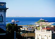 Ship Leaving Newcastle Harbour, NSW, Australia