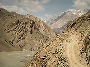 Trekking trail in the Yarkhun valley, Chitral, Hindukush mountains.