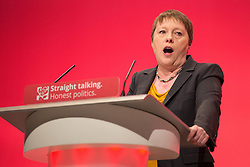 © London News Pictures . FILE PIC 28/09/2015 . Shadow Defence Secretary MARIA EAGLE speaks at the 2015 Labour Party Conference in Brighton. Reports have suggested that Maria Eagle might be moved from her position as  shadow defence secretary in this weeks expected shadow cabinet reshuffle. Photo credit : Joel Goodman/LNP