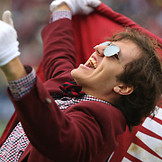 A South Carolina supporter is seen yelling during the NCAA Capital One Bowl football game between the South Carolina Gamecocks who represent the SEC and the Wisconsin Badgers who represent the Big 10 Conference, at the Florida Citrus Bowl on Wednesday, January 1, 2014 in Orlando, Florida. (AP Photo/Alex Menendez)