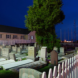 August 4, 2017 - Tangier Island, VA - PA graveyard sits adjacent to the new health center on Tangier Island.<br /> Photo by Susana Raab/Institute