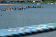 Beijing, CHINA, M8+ Repechage top to bottom. ITA, RUS, GBR, USA, CHN and ROM, during the  2007. FISA Junior World Rowing Championships Shunyi Water Sports Complex. 09/08/2007 [Photo, Peter Spurrier/Intersport-images]..... , Rowing Course, Shun Yi Water Complex, Beijing, CHINA,