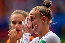 15-06-2019 FRA: Netherlands - Cameroon, Valenciennes<br /> FIFA Women's World Cup France group E match between Netherlands and Cameroon at Stade du Hainaut / Tears for Sari van Veenendaal #1 of the Netherlands, Vivianne Miedema #9 of the Netherlands