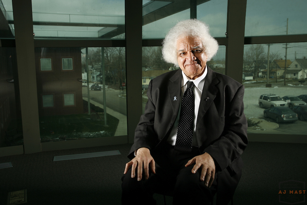 02/02/07-- Martin University founder and former President Father Boniface Hardin poses for a portrait.
