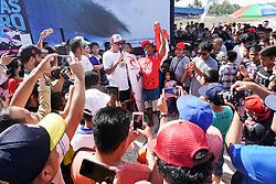 Aug 26, 2018 - Lagundri Bay, Indonesia - Ketut Agus during Nias Pro in Lagundri Bay, Indonesia. (Credit Image: ? WSL/ZUMA Wire/ZUMAPRESS.com)