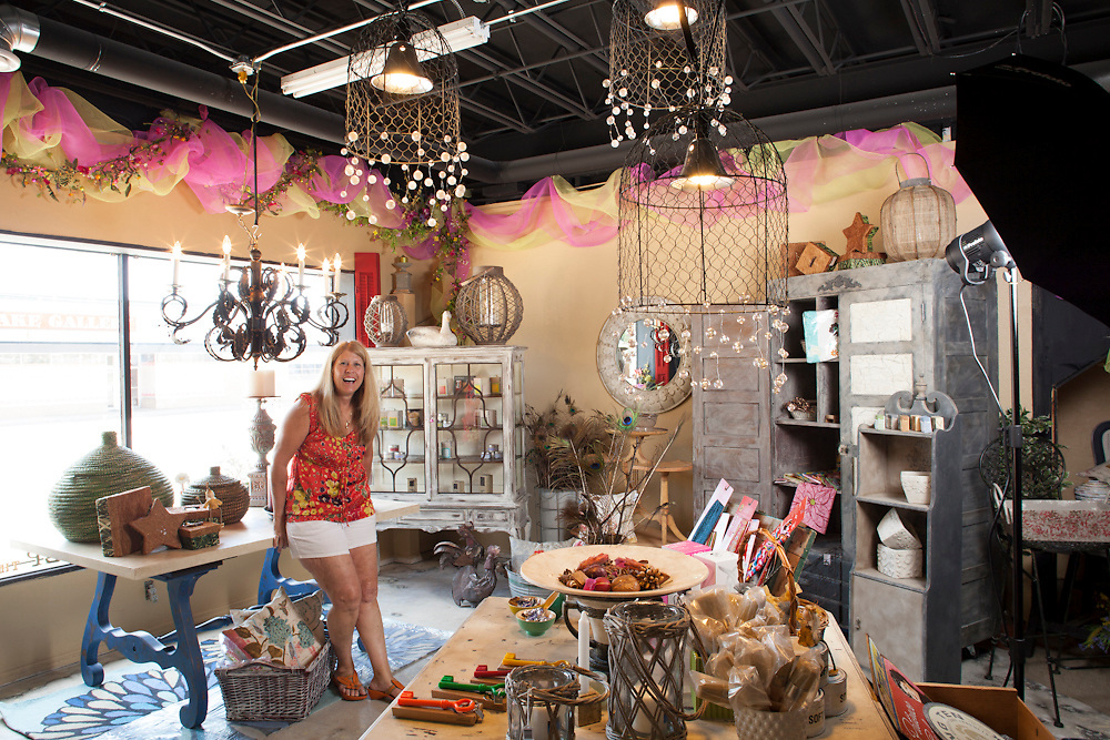06 July 2012- Diane Andress, owner of Keep the Peace store is photographed in Omaha, Nebraska for Omaha Magazine.