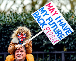 March 23, 2019 - London, United Kingdom - People's Vote March in London. Hundreds of thousands of protesters on London's Piccadilly take part in the People's Vote March. As the UK faces a crisis over Brexit, the marchers are demanding a people's vote to give the electorate a say on the governments final deal on leaving the European Union. (Credit Image: © Pete Maclaine/i-Images via ZUMA Press)