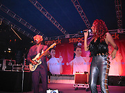 The CHIC Band (Nile Rodgers, Sylver Logan Sharp).Smock Magazine Launch Party.South Street Seaport.New York, NY.June 26, 2001.Photo By CelebrityVibe.com..