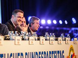 04.03.2017, Messe, Klagenfurt, AUT, FPÖ, 32. Ordentlicher Bundesparteitag, im Bild Johann Gudenus // at the 32nd Ordinary Party Convention of the Freiheitliche Partei Oesterreich (FPÖ) in Klagenfurt, Austria on 2017/03/04. EXPA Pictures © 2017, PhotoCredit: EXPA/ Wolgang Jannach