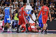 DESCRIZIONE : Campionato 2014/15 Dinamo Banco di Sardegna Sassari - Olimpia EA7 Emporio Armani Milano Playoff Semifinale Gara3<br /> GIOCATORE : Samardo Samuels<br /> CATEGORIA : Fair Play A Terra<br /> SQUADRA : Olimpia EA7 Emporio Armani Milano<br /> EVENTO : LegaBasket Serie A Beko 2014/2015 Playoff Semifinale Gara3<br /> GARA : Dinamo Banco di Sardegna Sassari - Olimpia EA7 Emporio Armani Milano Gara4<br /> DATA : 02/06/2015<br /> SPORT : Pallacanestro <br /> AUTORE : Agenzia Ciamillo-Castoria/L.Canu