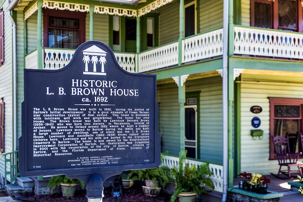 historic L B Brown house, Bartow, Florida, USA.